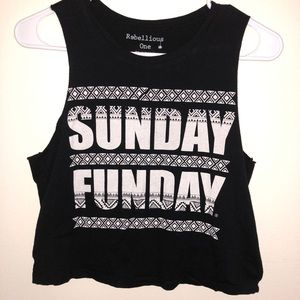 Sunday Funday Muscle crop top